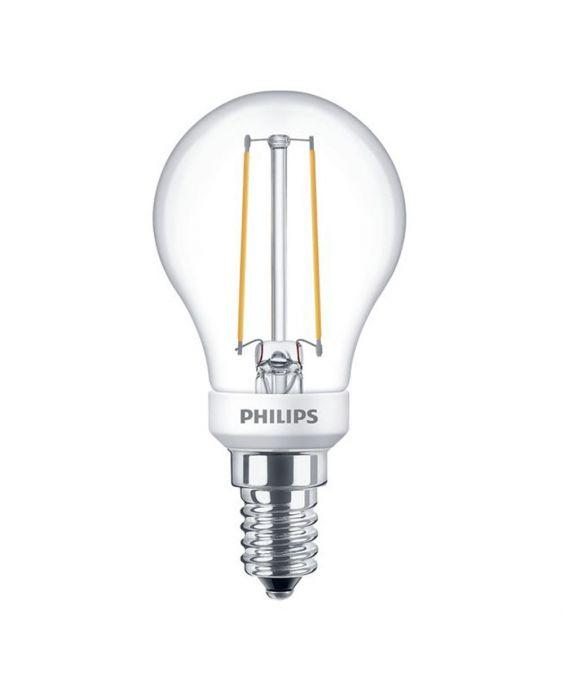 Philips Classic LEDlustre E14 P45 2.7W 827 Klar | Dimbar - Ersättare 25W