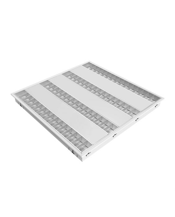 Noxion LED Louvre Excell G2. 34W 3000K 600 Glanzend Excl. Driver (4x14W eqv.)
