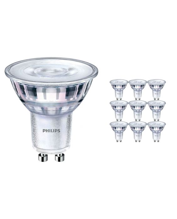 Fordelspakke 10x Philips CorePro LEDspot MV GU10 4W 827 36D | ekstra varm hvid - dæmpbar - erstatter 35W