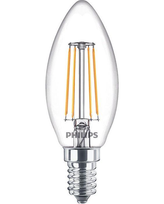 Philips Classic LEDcandle E14 B35 4.3W 827 Helder | Extra Warm Wit - Vervangt 40W