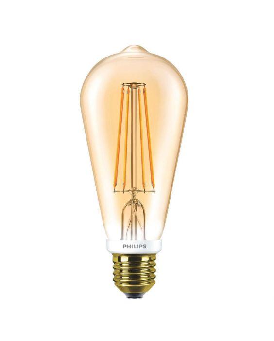 Philips Classic LEDbulb E27 Edison 7W 825 guld | dæmpbar - erstatter 55W