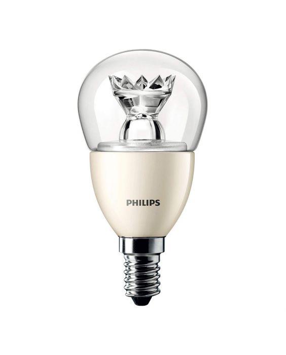 Philips LEDluster E14 P48 6W 827 Klar (MASTER) | DimTone Dimmbar - Ersetzt 40W