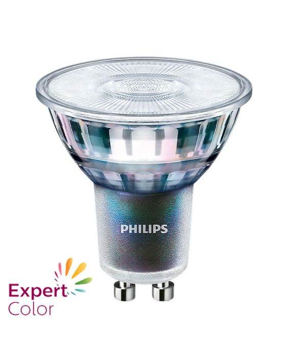 Philips LEDspot ExpertColor GU10 3.9W 940 36D (MASTER)   Beste Farbwiedergabe - Kaltweiß - Dimmbar - Ersetzt 35W