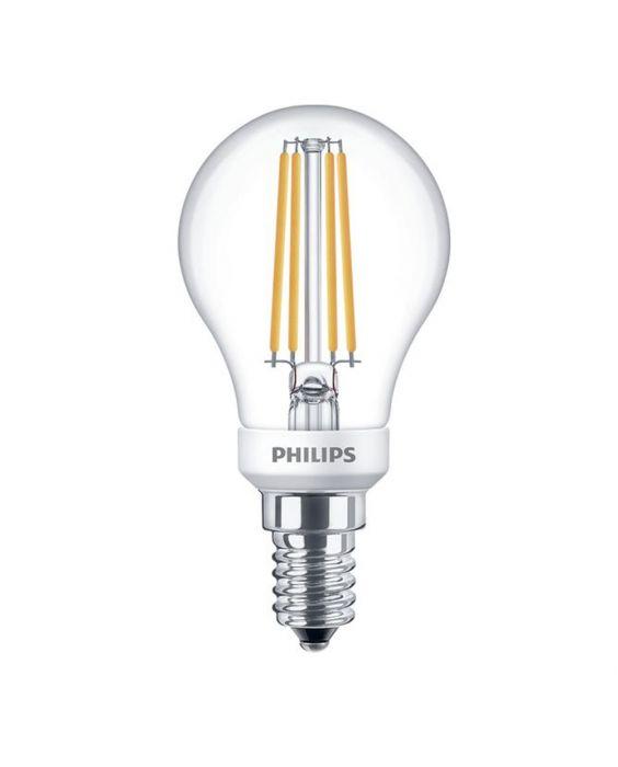 Philips Classic LEDlustre E14 P45 5W 827 Klar | Dimbar - Ersättare 40W