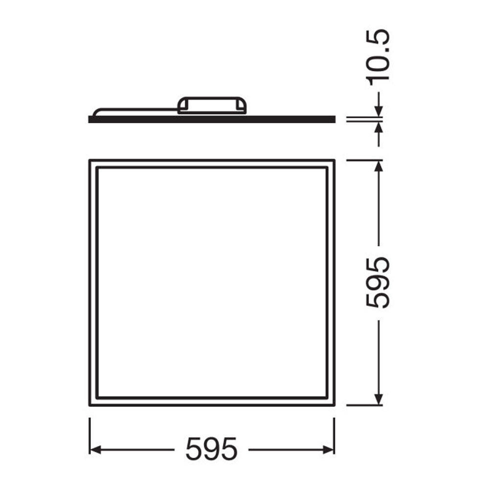 Ledvance LED Paneel 60x60cm 3000K 40W | Warm Wit - Vervangt 4x18W
