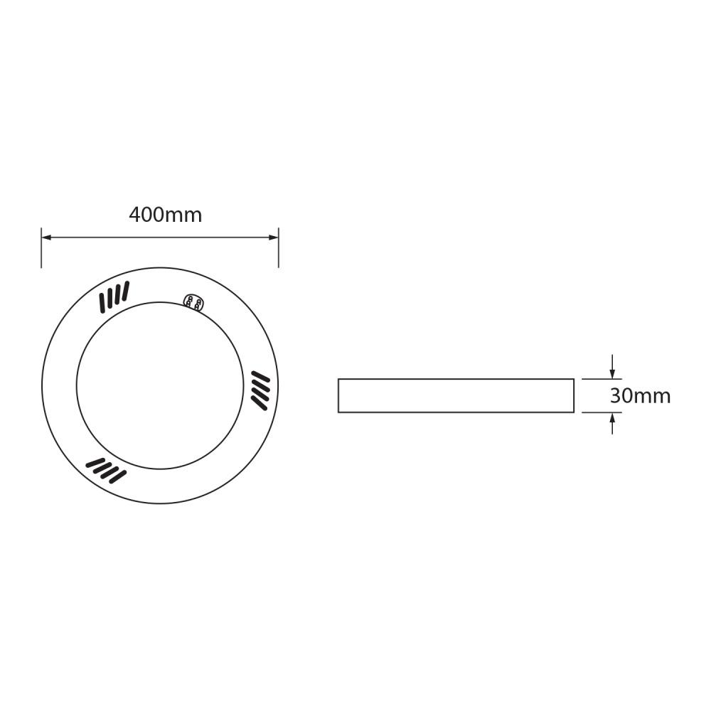 Noxion Avant LED T9 Tube Circular EM/MAINS G10q 20W 830 | Warm Wit - Vervangt 40W