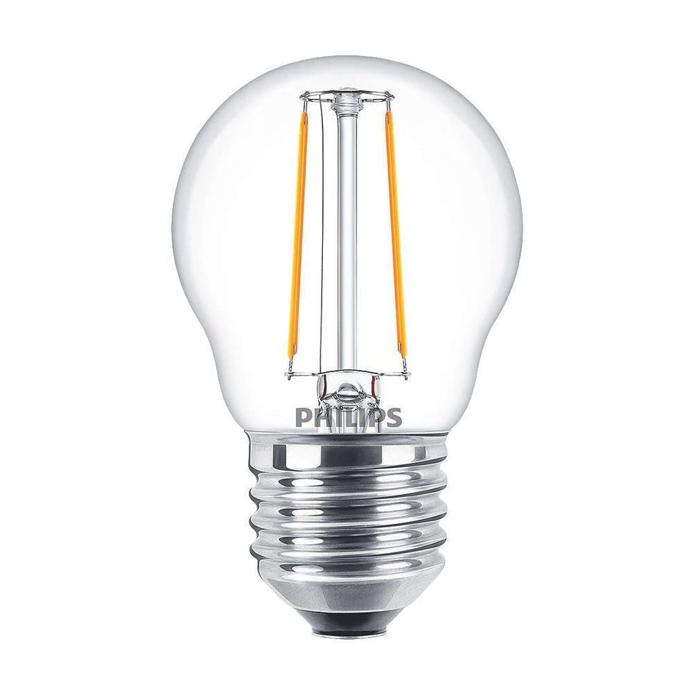 Philips Classic LEDluster E27 P45 2W 827 Helder | Vervangt 25W