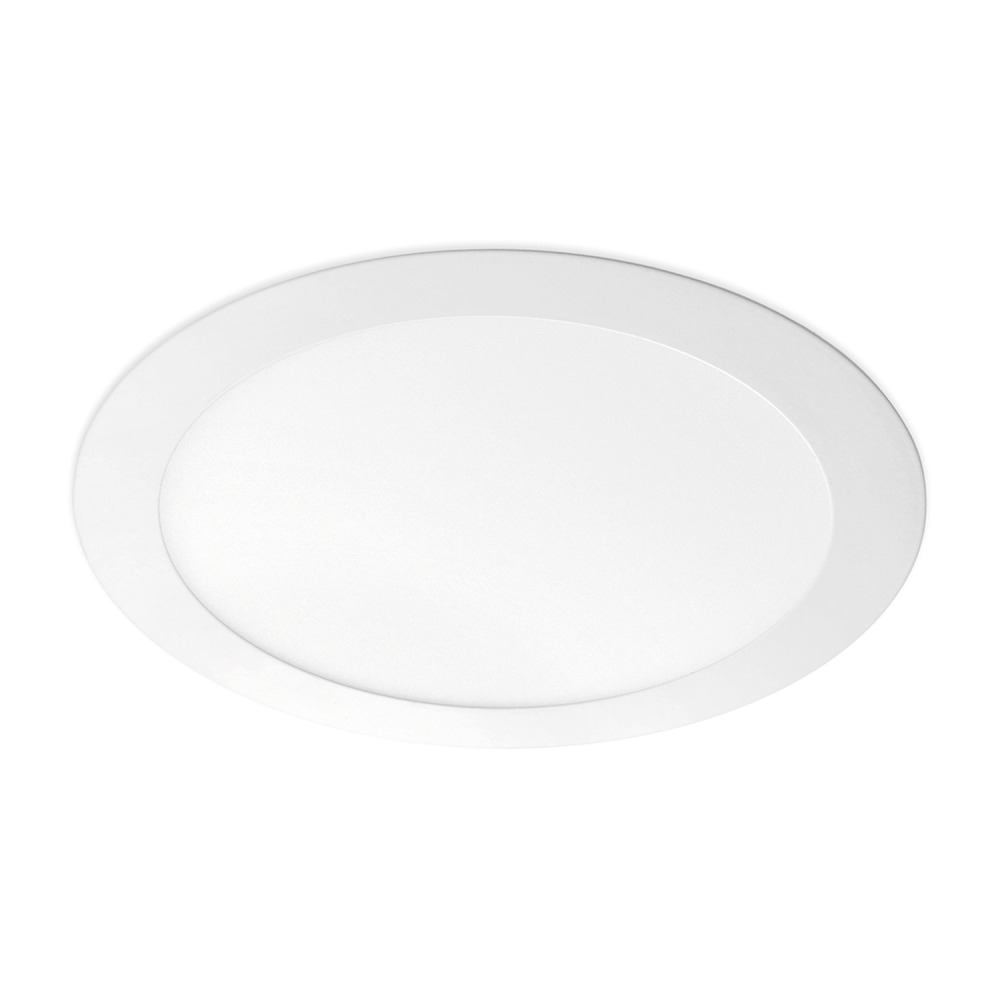 Lampdirect Flat LED Downlight 18W 830 1350Lm | Warm Wit