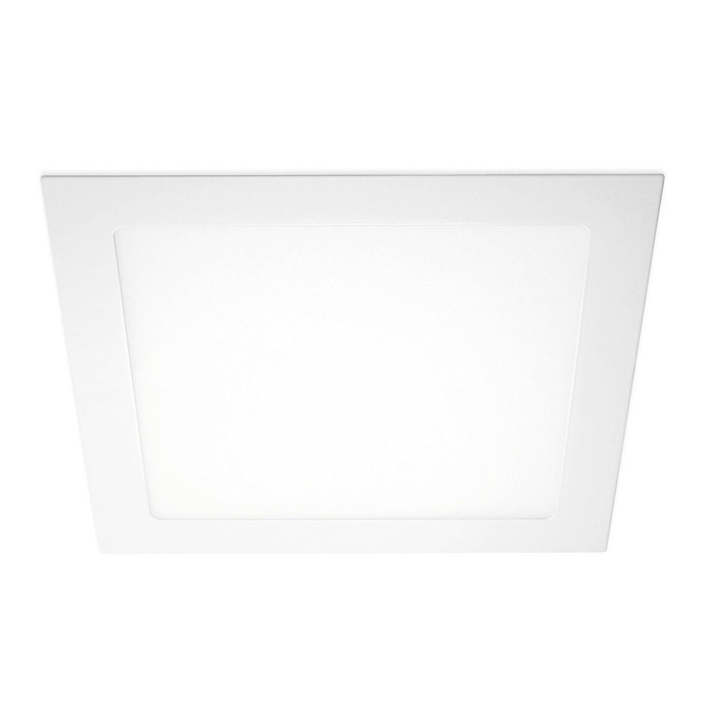 Lampdirect Flat Square LED Downlight 18W 830 1350lm | Warm Wit