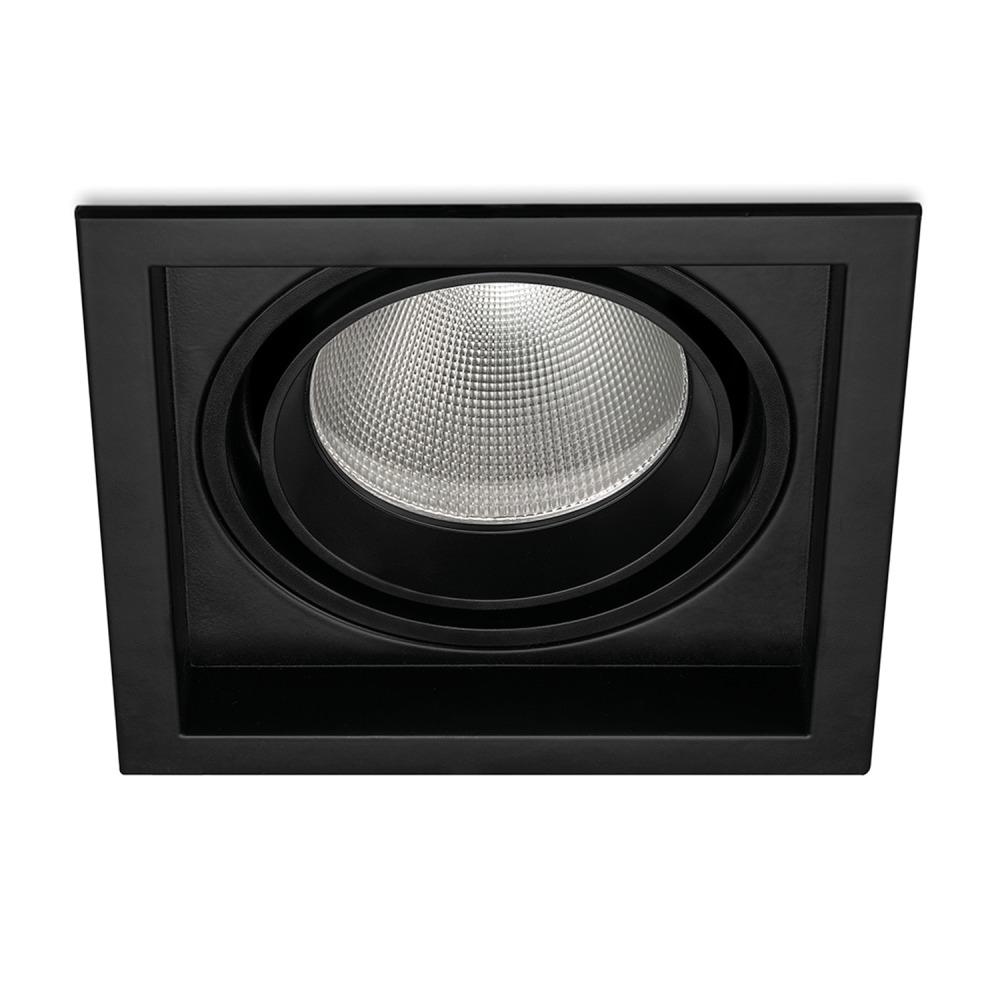 Lampdirect Magnum LED Downlight 30W 830 2400lm Zwart   Warm Wit - Dali Dimbaar