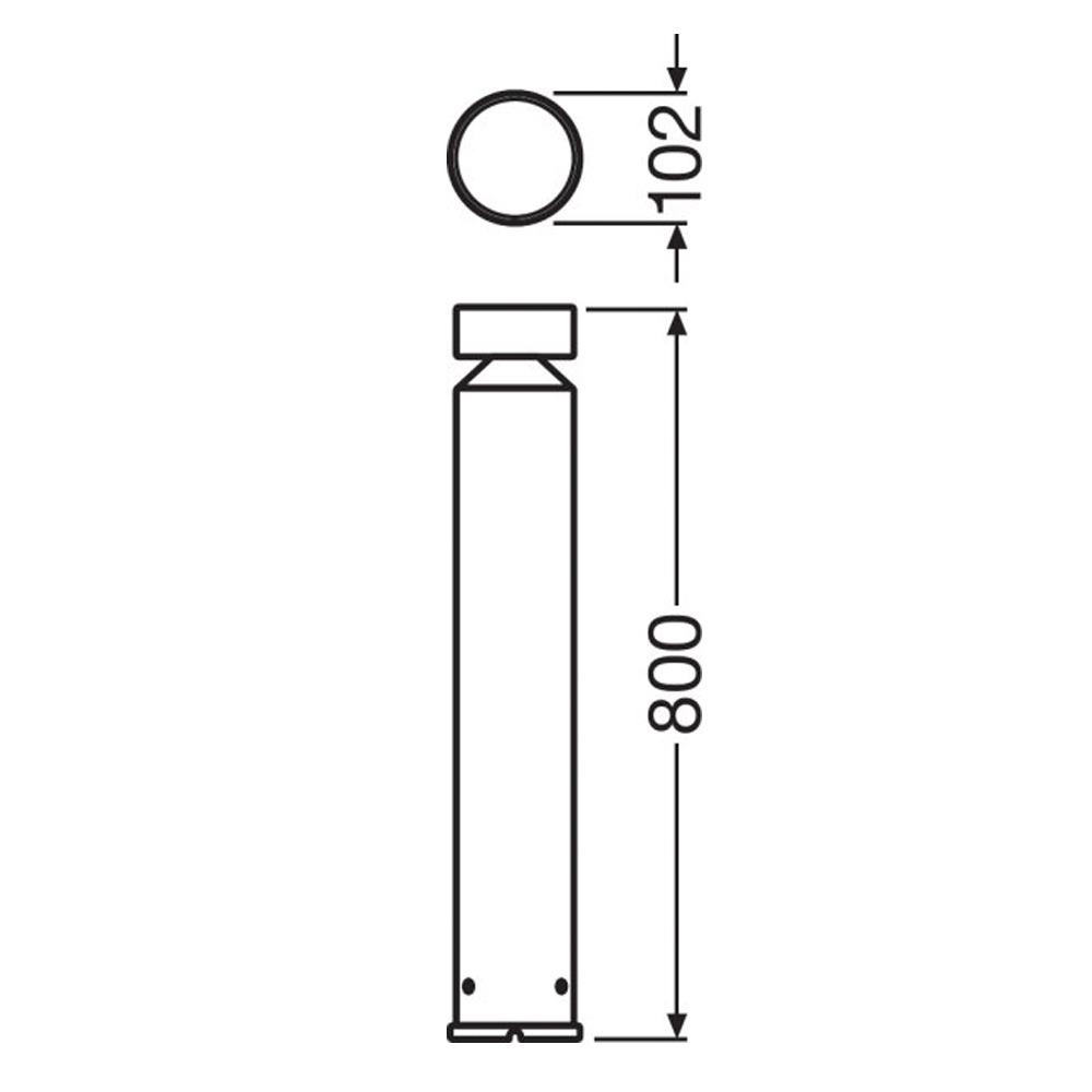 Ledvance Outdoor LED Bollard Pole 80cm 6W 3000K