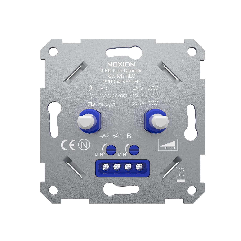 Noxion Duo LED Dimmer Schakelaar RLC 0-100W 220-240V