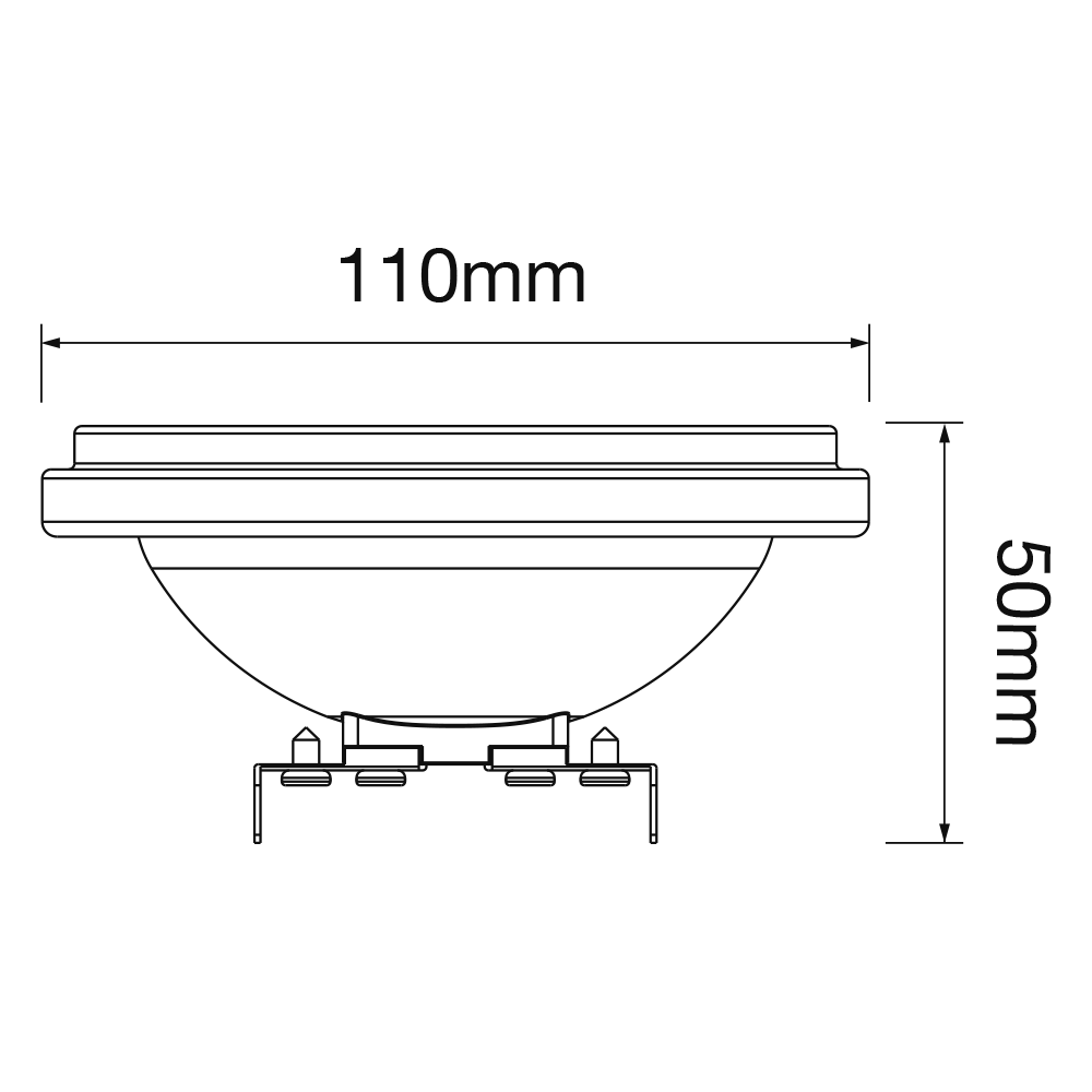 Noxion Lucent LED Spot AR111 G53 Pro 12V 12W 927 40D| Extra Warm Wit - Beste Kleurweergave - Dimbaar - Vervangt 50W