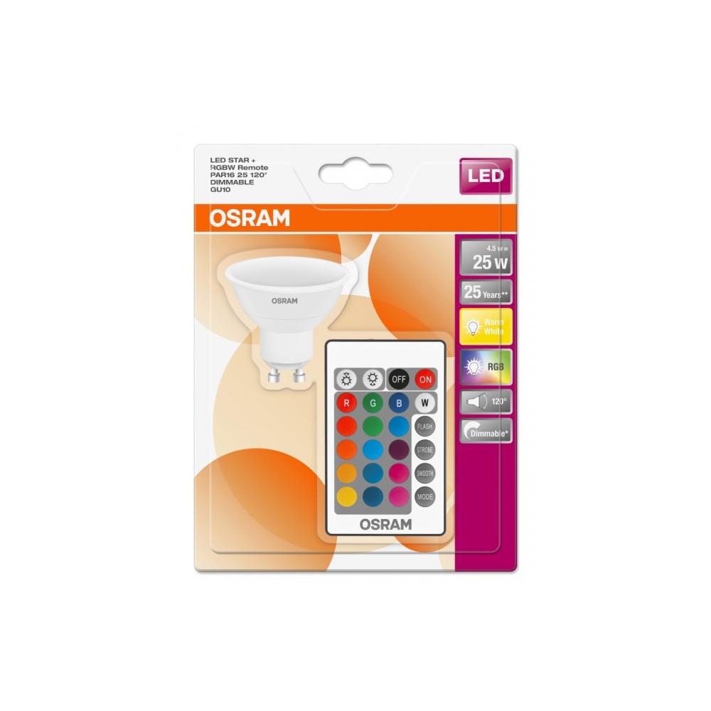 Osram LED Retrofit RGBW GU10 5W 827 250lm Mat | Dimbaar - Zeer Warm Wit - Vervangt 25W