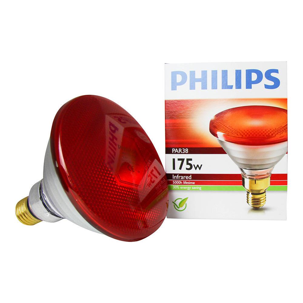 Philips PAR38 IR 175W E27 230V Rood
