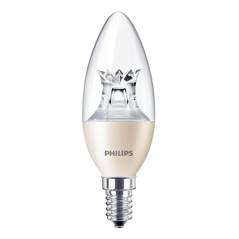 Philips LEDcandle E14 B38 6W 827 (MASTER) | DimTone Dimbaar - Vervangt 40W