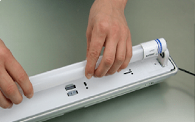 Replace your T8 fluorescent tubes with LED tubes (EM conventional ballast)
