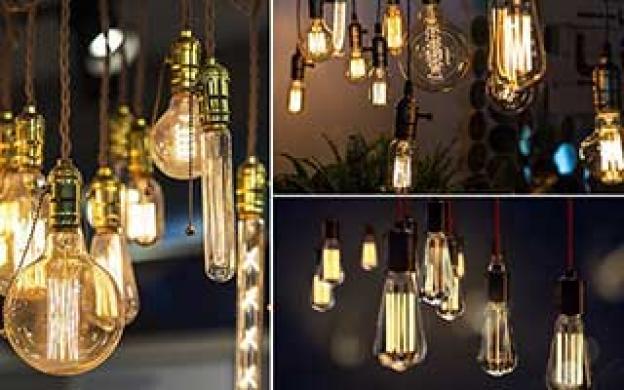 LED-belysning med retrolampor och vintagelampor