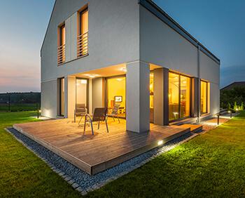 LED-Außenbeleuchtung für das Haus