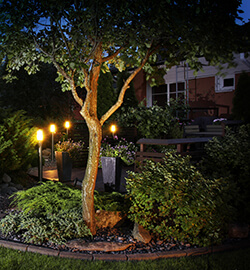 LED-Außenleuchten im Garten