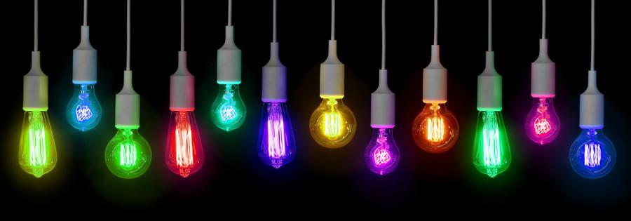 coloured led lamps
