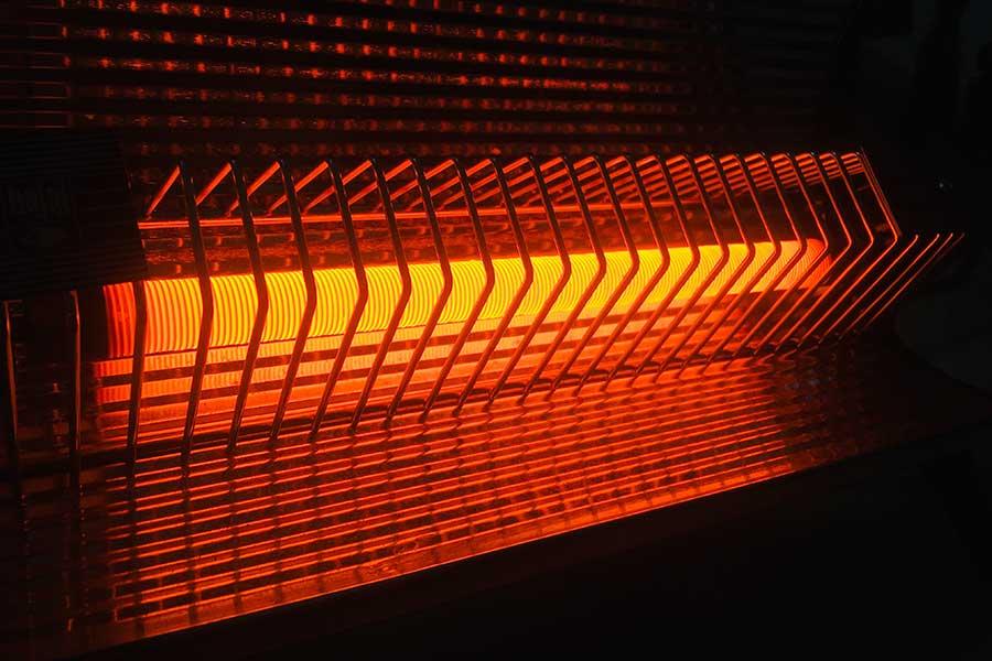 infrared heater closeup