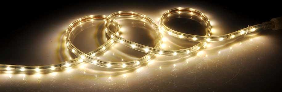 striscia LED colore bianco caldo