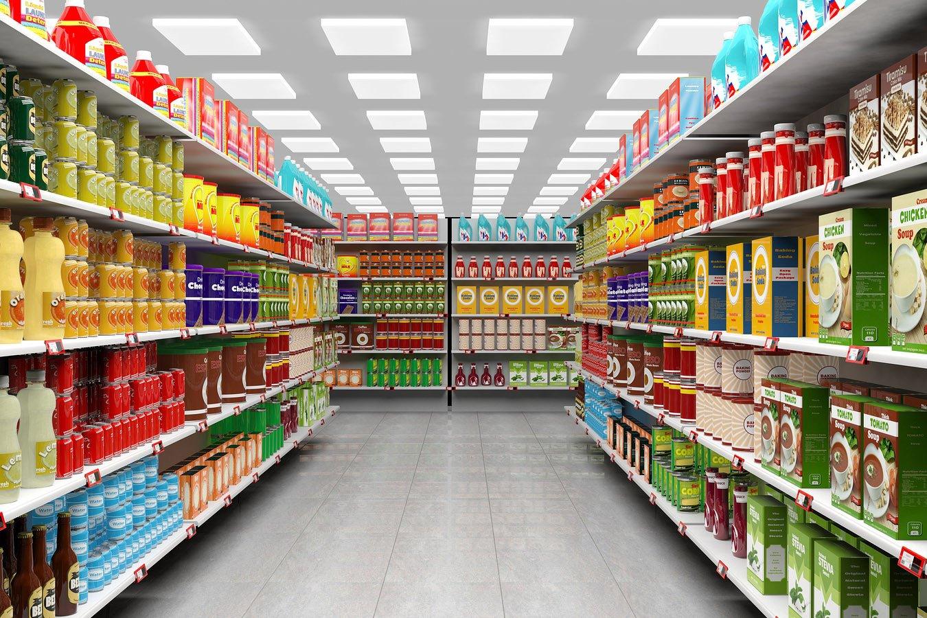 supermarket with DALI LED panels