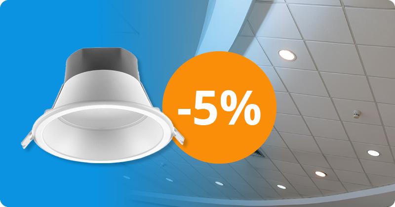 Grafik zu den Angeboten der Woche: Rabatt auf Noxion Downlights