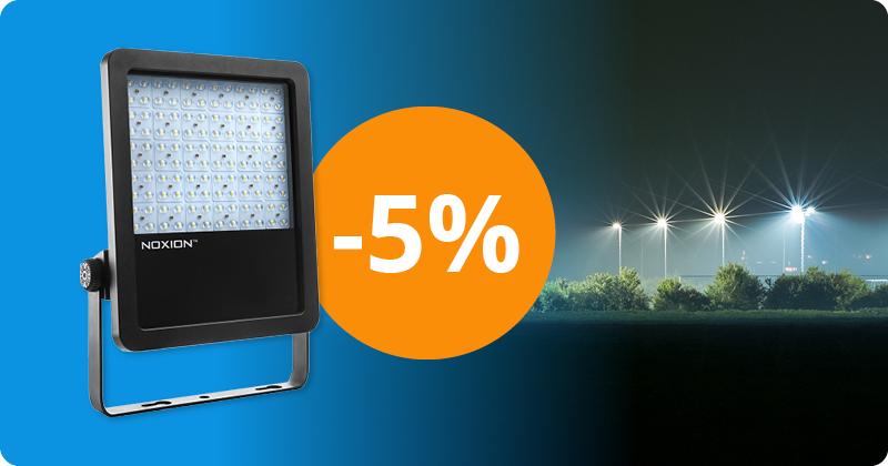 5 % Rabatt auf Scheinwerfer von Noxion