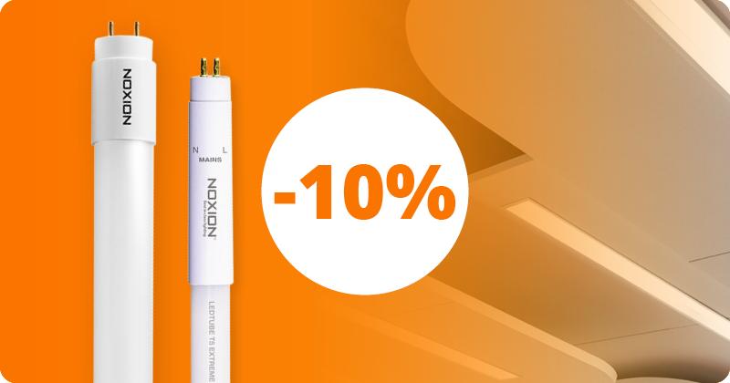 10 % Rabatt auf LED-Röhren von Noxion